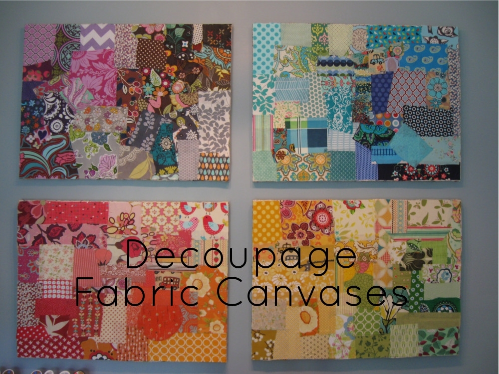 Decoupage Canvases {Diy} (Image 5 of 15)