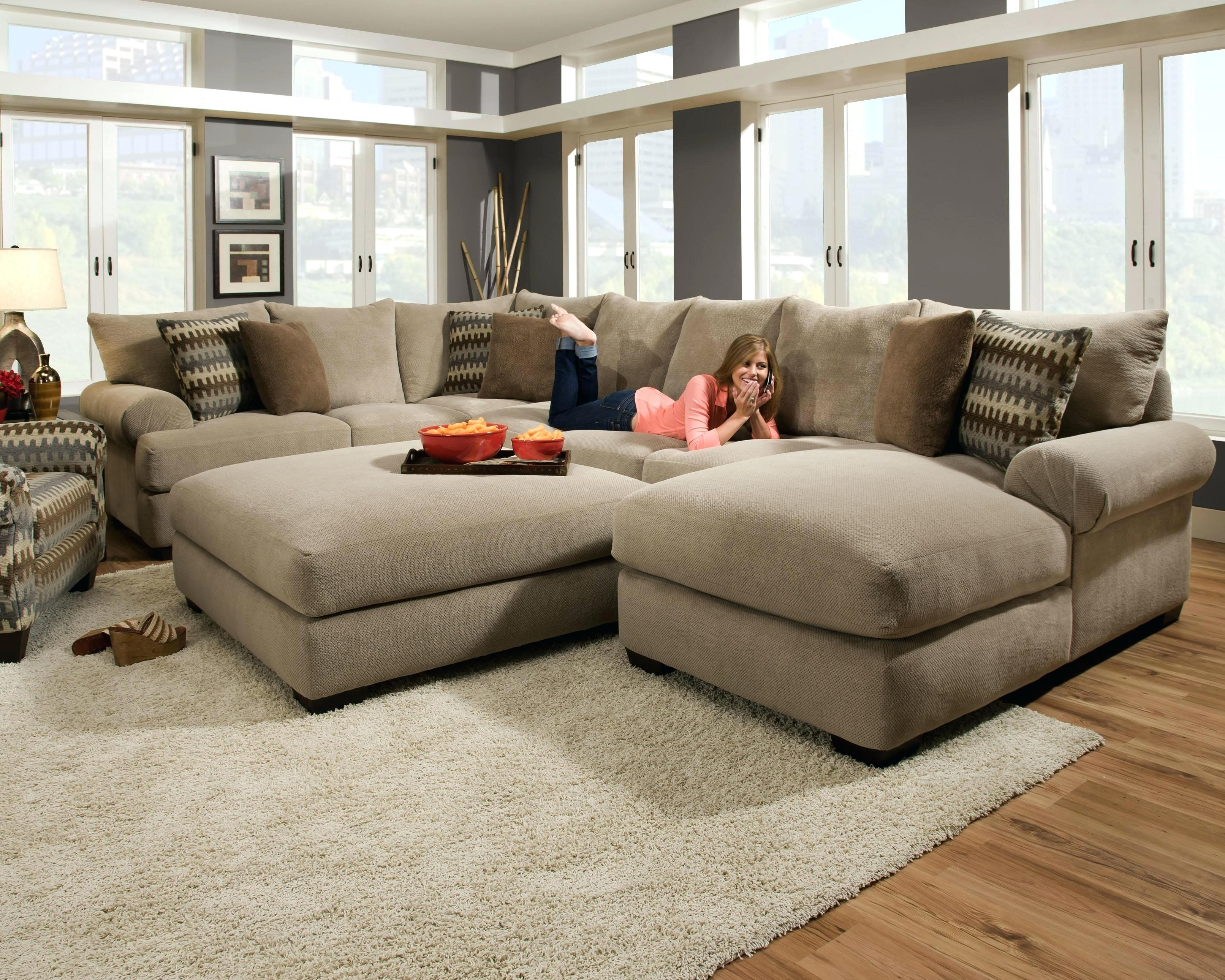 Deep Cushion Couch Sectional Sofas Leather Sofa With Deep Cushion Sofas (Image 5 of 10)