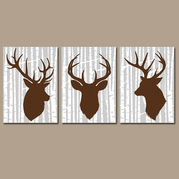 Deer Wall Art, Canvas Or Prints Rustic From Trm Design | Wall Art Intended For Rustic Canvas Wall Art (View 2 of 15)