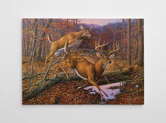 Deer Wall Decor Deer Hunting Canvas Art Large Deer Painting Within Deer Canvas Wall Art (View 4 of 15)