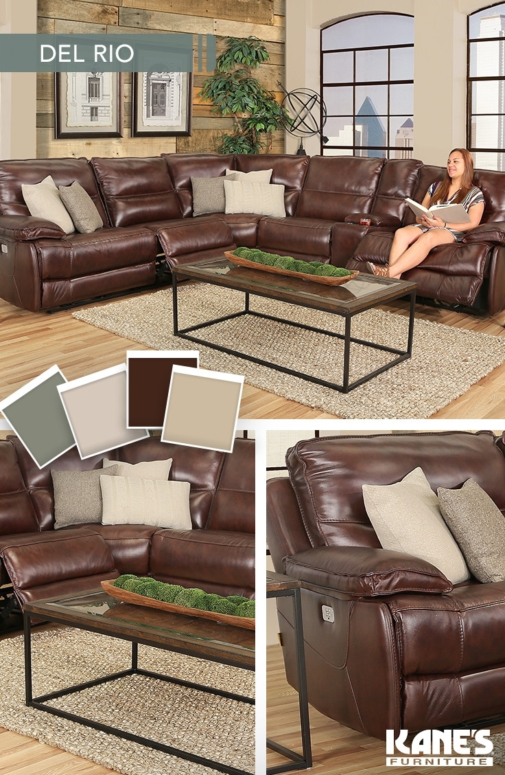 Del Rio 6 Piece Power Reclining Leather Sectional | Del Rio, Power Regarding Kanes Sectional Sofas (View 5 of 10)