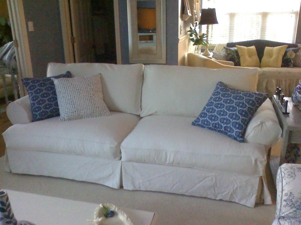 Denim Sofas Sofa Washable Covers Slipcover Heavy Duty Slipcovers And Regarding Sofas With Washable Covers (View 9 of 10)