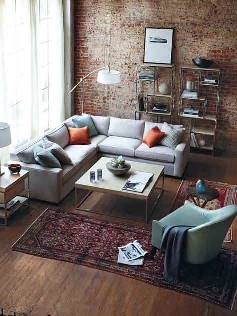 Design Guide: How To Style A Sectional Sofa   Industrial Living Regarding Wall Accents For L Shaped Room (Image 5 of 15)