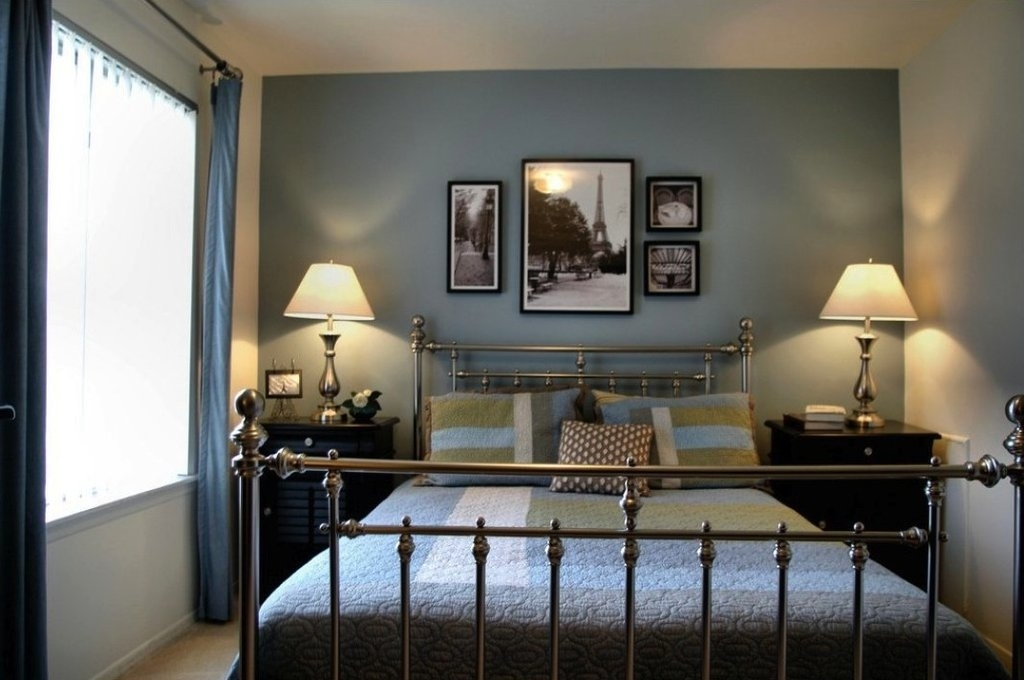 Design Inspiration: Restful Bedrooms | Bedrooms, Blue Accent Walls Throughout Blue Wall Accents (Image 12 of 15)