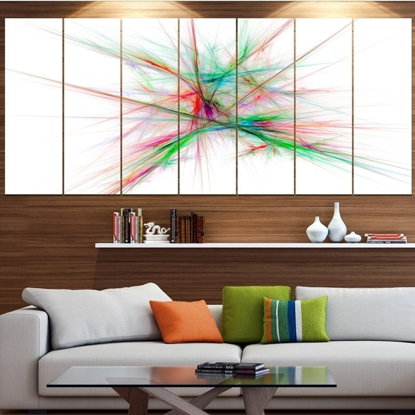 Designart 'blue Red Spectrum Of Light' Abstract Wall Art On Canvas For Light Abstract Wall Art (Image 7 of 15)