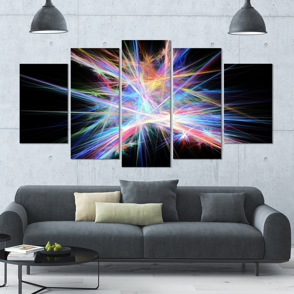 Designart 'light Blue Spectrum Of Light' Abstract Wall Art On Regarding Light Abstract Wall Art (Image 9 of 15)