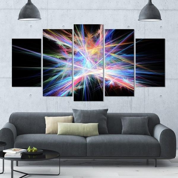 Designart 'light Blue Spectrum Of Light' Abstract Wall Art On Regarding Light Abstract Wall Art (View 5 of 15)