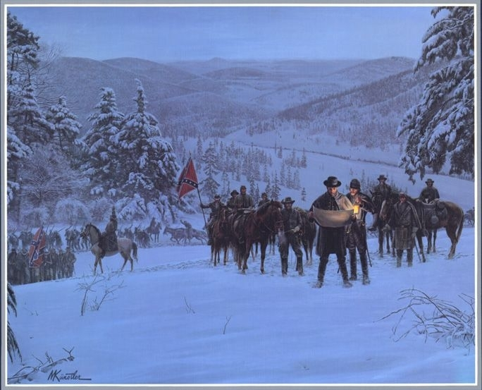 Details About Mort Kunstler Confederate Winter Framed Print Civil Pertaining To Confederate Framed Art Prints (View 13 of 15)