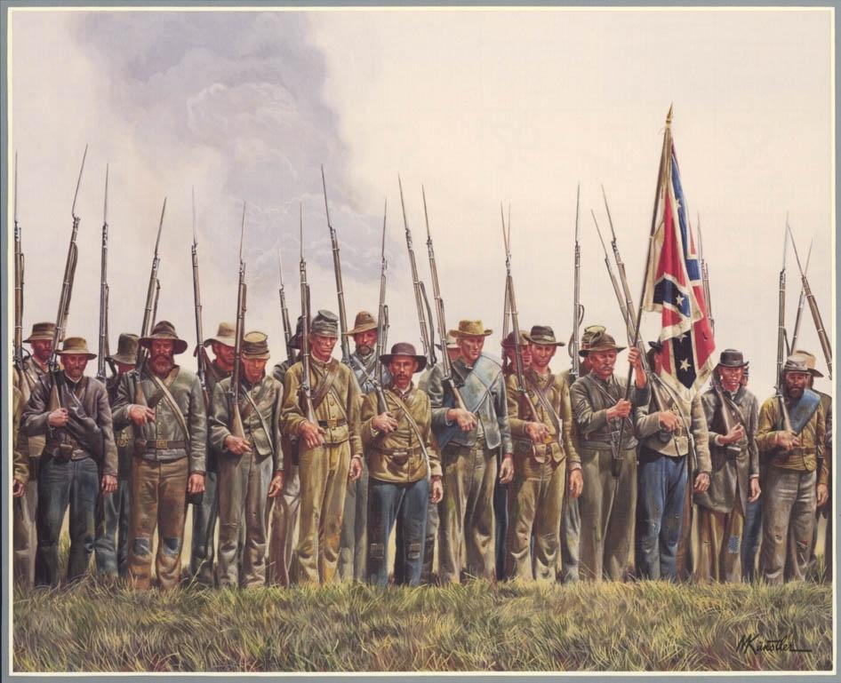 Details About Mort Kunstler Men Of Valor Framed Print Civil War Pertaining To Confederate Framed Art Prints (View 14 of 15)