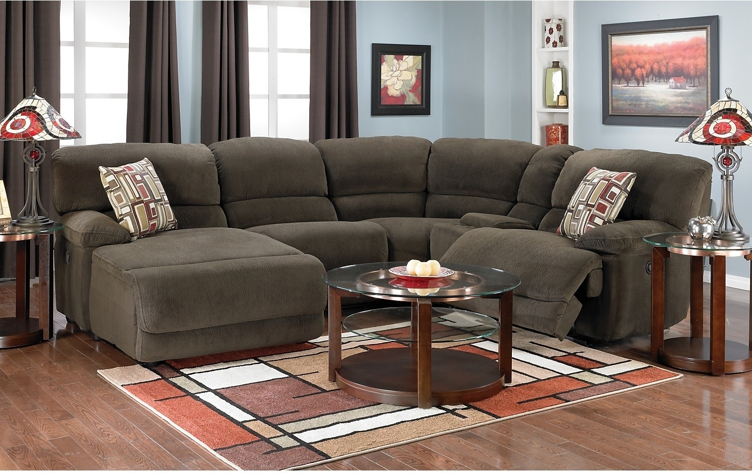 Devon Devon 5 Piece Sectional With Chaise And Sleeper Sofa With Regard To Sectional Sofas At Brick (View 3 of 10)