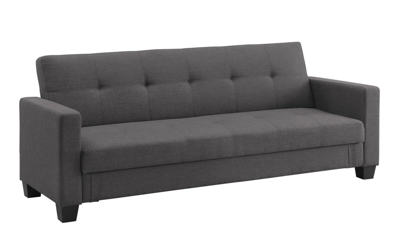 Dhp Leighton Convertible Sofa & Reviews | Wayfair Pertaining To Convertible Sofas (Image 3 of 10)