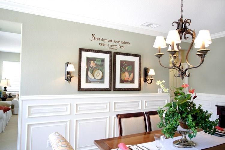 Dining Room : Smallcheerandgreatwelcome Dining Room Wall With Regard To Wall Accents For Dining Room (Image 8 of 15)