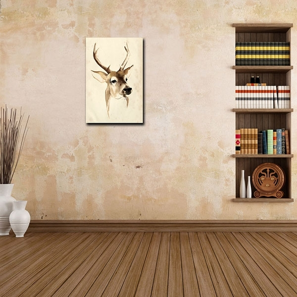 Discount Price Hd Canvas Print Art For Home Decor Deer Oil Inside Ottawa Canvas Wall Art (View 13 of 15)