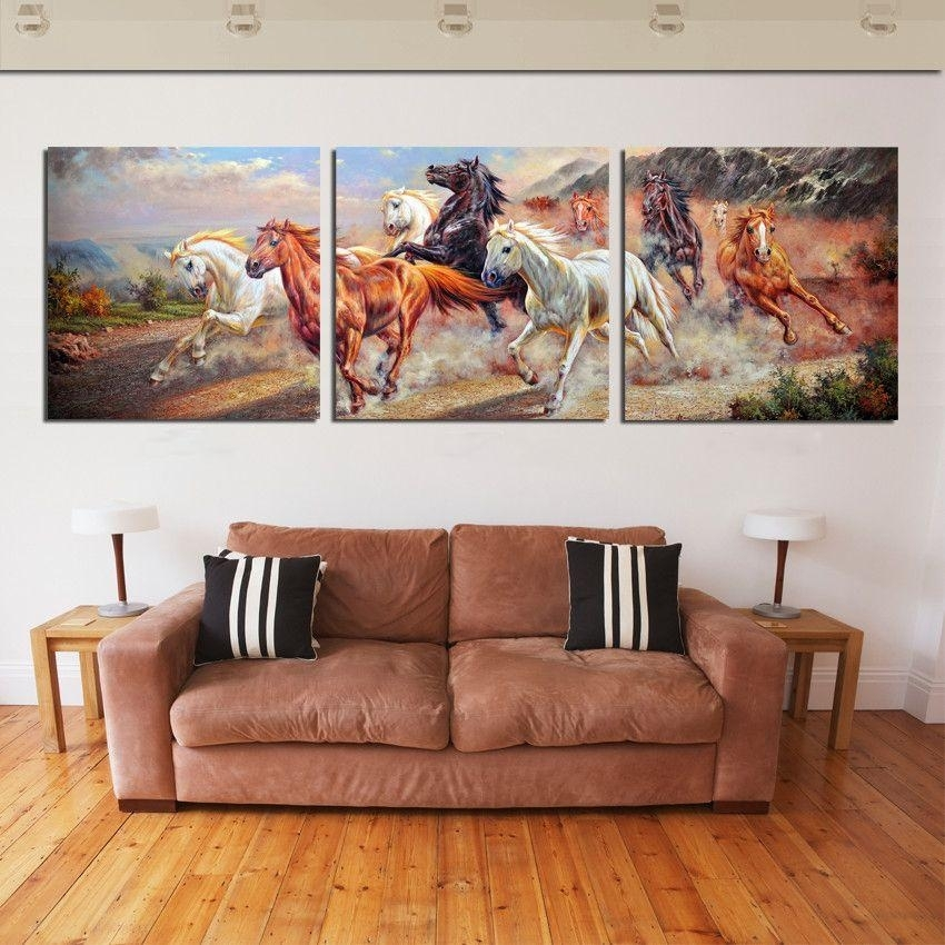 Discount Running Horse Anvas Wall Art Painting Wall Pictures Intended For Horses Canvas Wall Art (Image 4 of 15)
