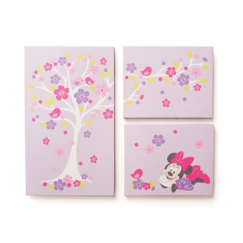 Disney Baby Minnie Mouse Love Blossoms Premier Wall Art – Kids Within Kidsline Canvas Wall Art (Image 4 of 15)