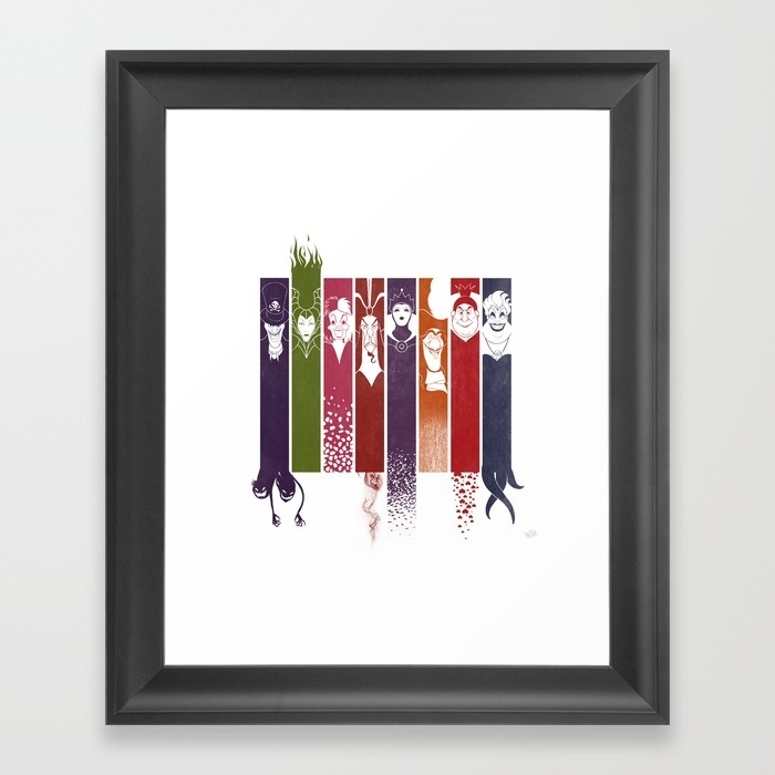 Disney Villains Framed Art Printmetaa | Society6 With Disney Framed Art Prints (View 5 of 15)