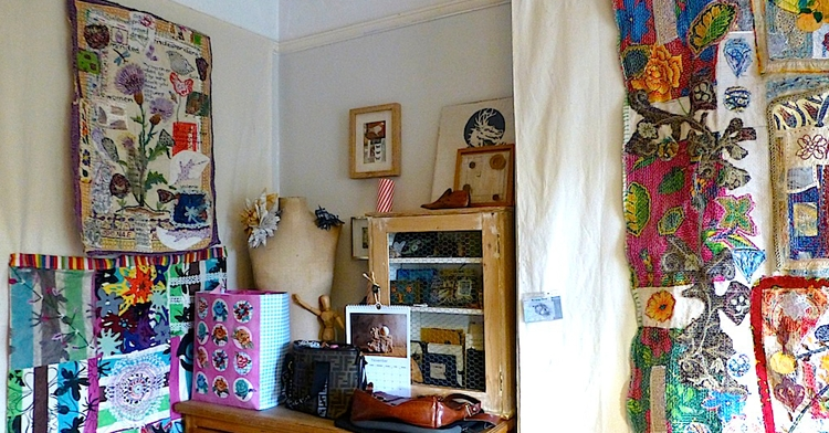 Displaying And Hanging Textile Art – Textileartist Within Fabric Art Wall Hangings (Image 3 of 15)