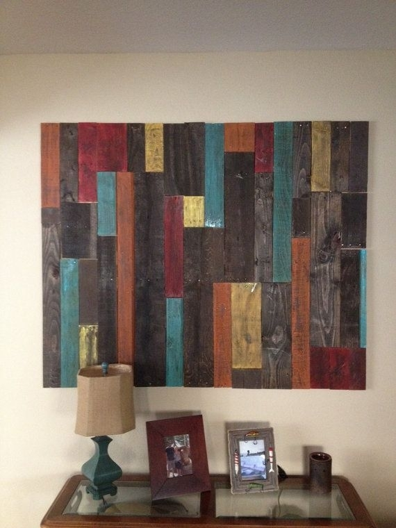 Distressed Pallet Wall Art Decor | Pallet Wall Art, Art Decor And In Wall Accents With Pallets (View 12 of 15)
