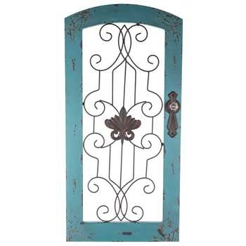 Distressed Turquoise Wood & Metal Wall Decor | Hobby Lobby | 989376 For Hobby Lobby Wall Accents (Image 5 of 15)