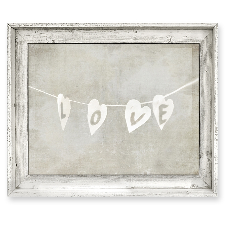 District17: Love String Framed Canvas Wall Art: Framed Art,canvas Within Love Canvas Wall Art (View 13 of 15)