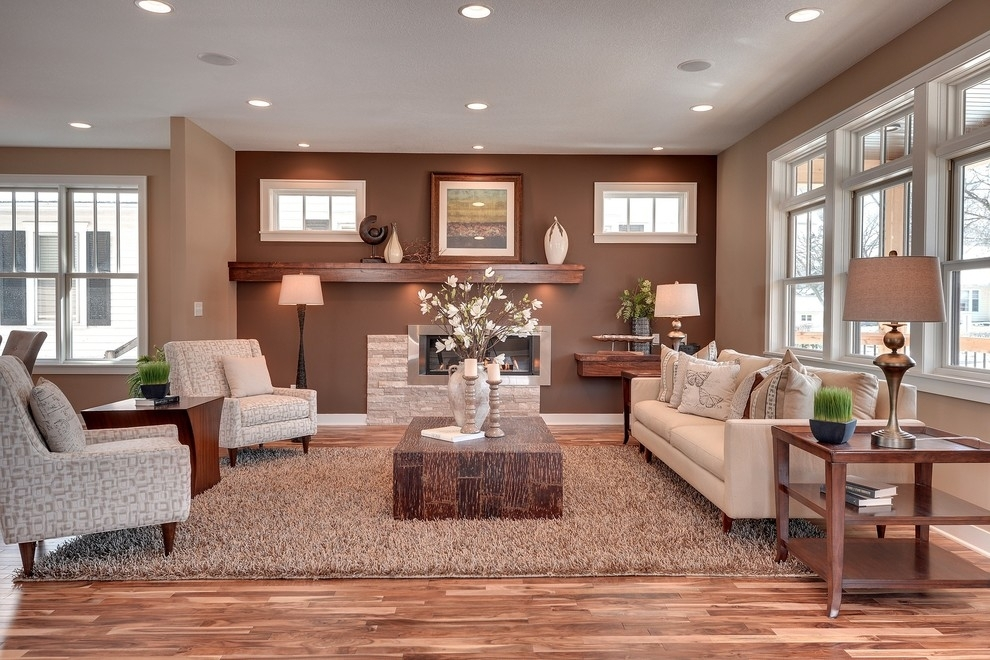 Diy Accent Table Living Room Transitional With Neutral Colors Tan Pertaining To Neutral Color Wall Accents (View 7 of 15)