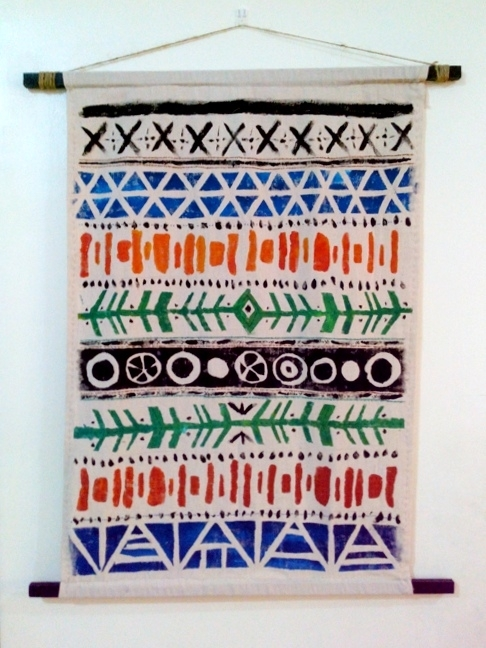 Featured Photo of Aztec Fabric Wall Art