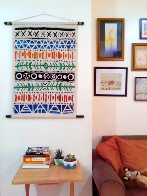 Diy Aztec Pattern Fabric Wall Art Pertaining To Aztec Fabric Wall Art (Image 8 of 15)