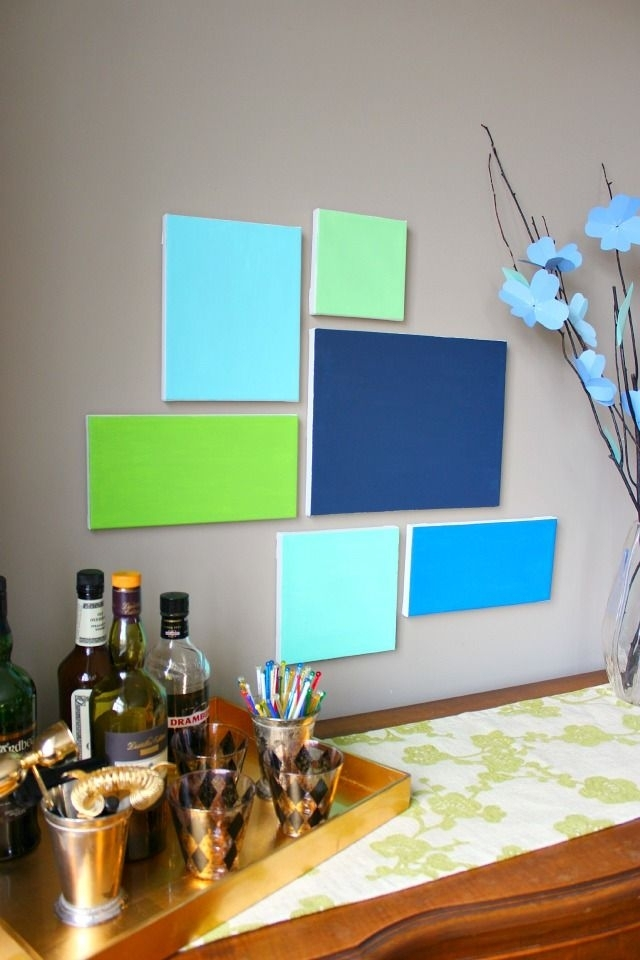 Diy Canvas Art | Canvases, Diy Canvas And Walls Pertaining To Groupings Canvas Wall Art (View 13 of 15)