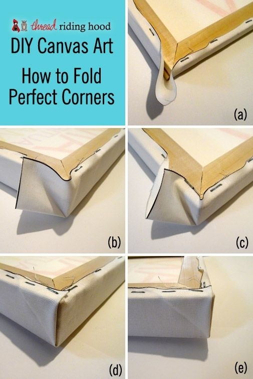 Diy Canvas Art! Or How To Stretch A Canvas With Perfect Corners In In Fabric Stretcher Wall Art (Image 5 of 15)