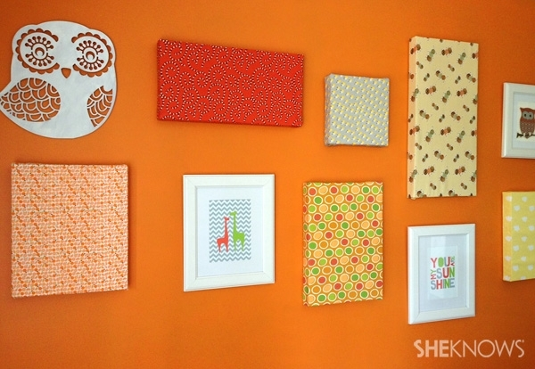 Diy Canvas Artwork In 8 Easy Steps Intended For Fabric Covered Wall Art (Image 3 of 15)