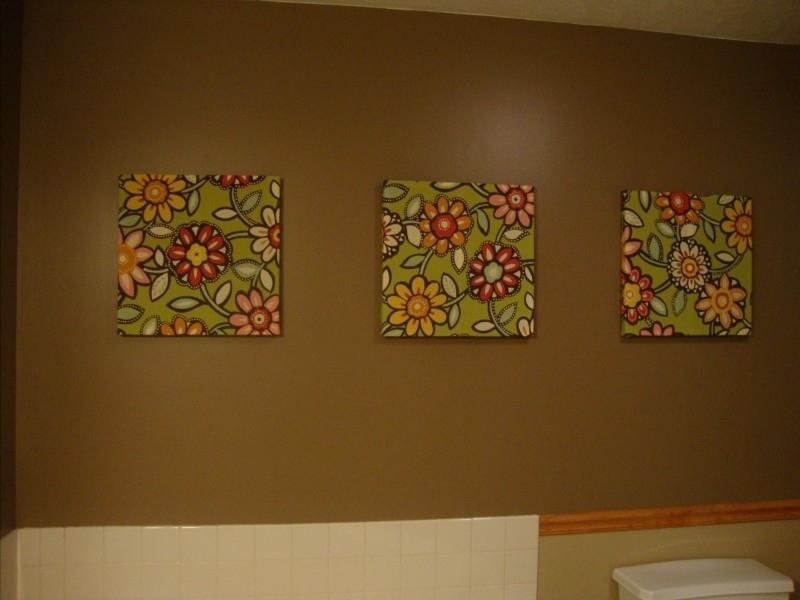 Diy Canvas Fabric Wall Art | The Wonderfully Ordinary Life Of Mrs For Diy Fabric Canvas Wall Art (Image 5 of 15)