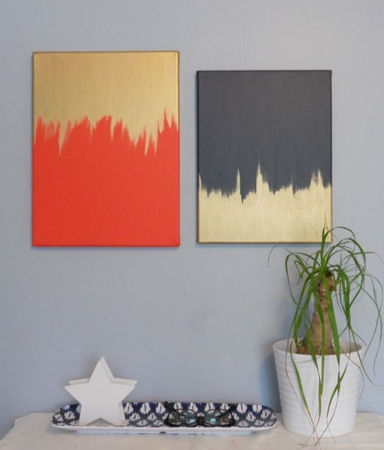 Diy Canvas Painting Creative And Easy Diy Canvas Wall Art Ideas Pertaining To Homemade Canvas Wall Art (Image 11 of 15)