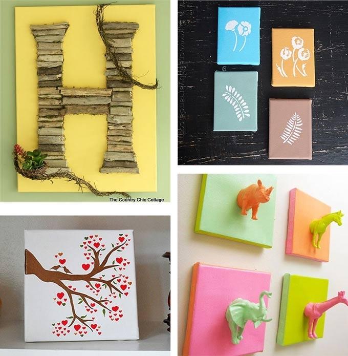 Diy Canvas Wall Art Ideas: 30+ Canvas Tutorials In Diy Wall Art With Diy Canvas Wall Art (View 9 of 15)