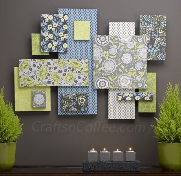 Diy Custom Wall Art With Fabric + Foam (It's Easier Than You Think In Fabric Swatch Wall Art (Image 7 of 15)