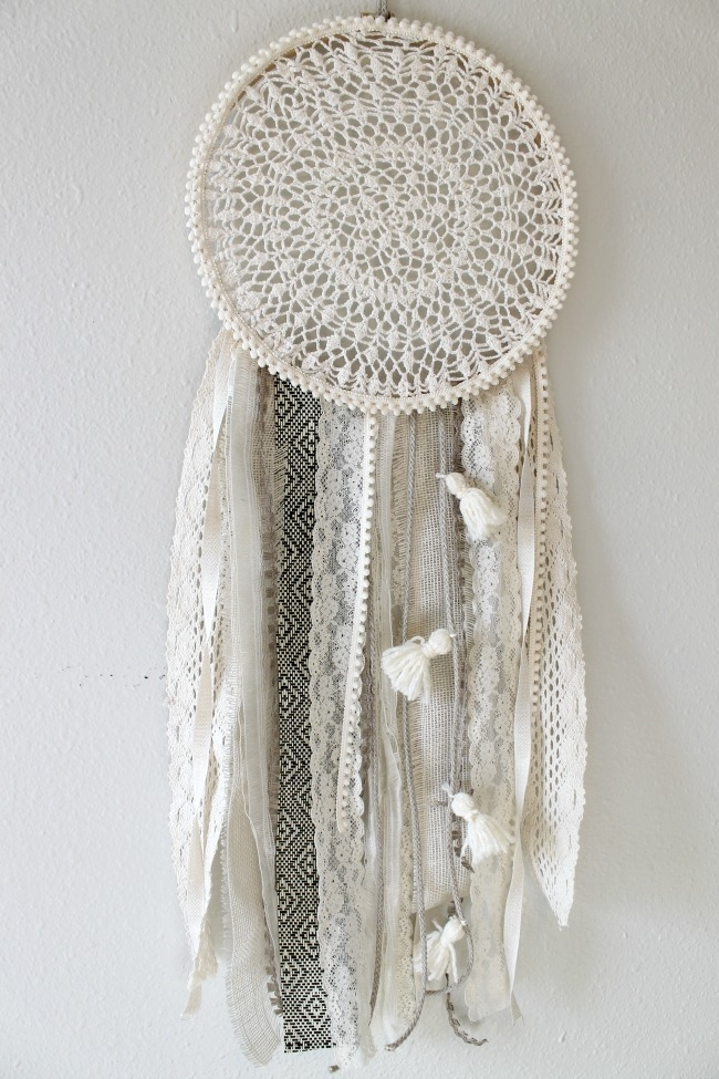Diy Dreamcatcher: Urban Outfitters Knock Off – Child At Heart Blog Intended For Fabric Wall Art Urban Outfitters (Image 2 of 15)