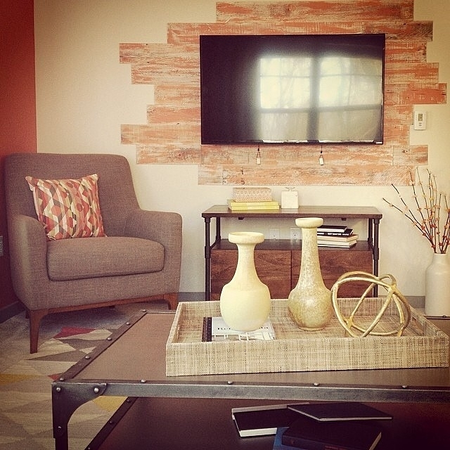 Diy Easy Peel And Stick Wood Wall Decor Inside Wall Accents With Tv (View 7 of 15)
