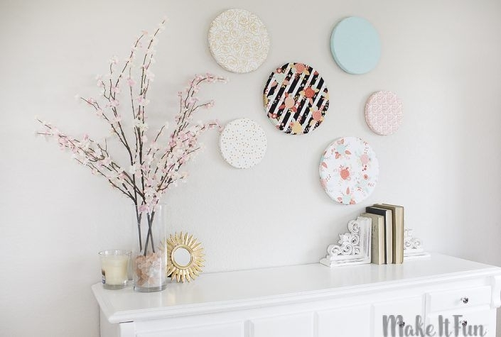 Diy Fabric Covered Foam Wall Art | Art: Mixed Media | Pinterest For Fabric Covered Foam Wall Art (Image 4 of 15)