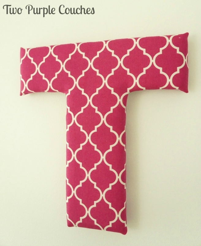 Diy Fabric Covered Letters – Two Purple Couches Within Fabric Wall Art Letters (Image 6 of 15)