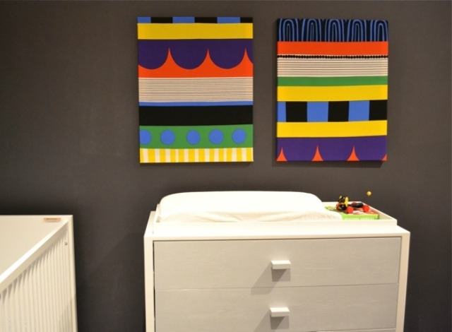 Diy: Fabric Wall Art – Project Nursery Regarding Marimekko Fabric Wall Art (View 4 of 15)