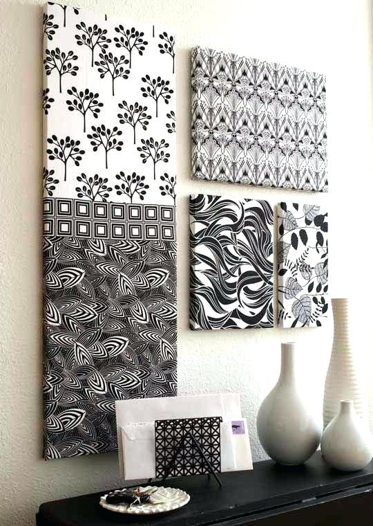 Diy Fabric Wall Decorations Video Framed – Simple Kitchen Detail For Fabric Wall Accents (Image 6 of 15)