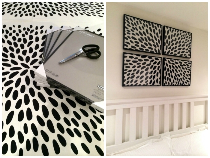 Diy: Framed Fabric Wall Art Pertaining To Fabric Square Wall Art (Image 3 of 15)
