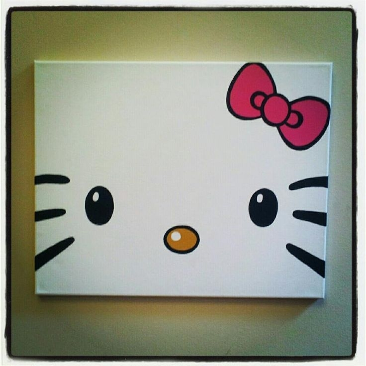 Diy Hello Kitty Canvas Paintingtotally Making This For My With Hello Kitty Canvas Wall Art (View 2 of 15)