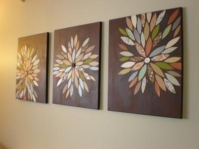 Diy Home Decor Wall Art: Diy (Pinterest Inspired) Wall Art | Diy In Fabric Butterfly Wall Art (Image 9 of 15)
