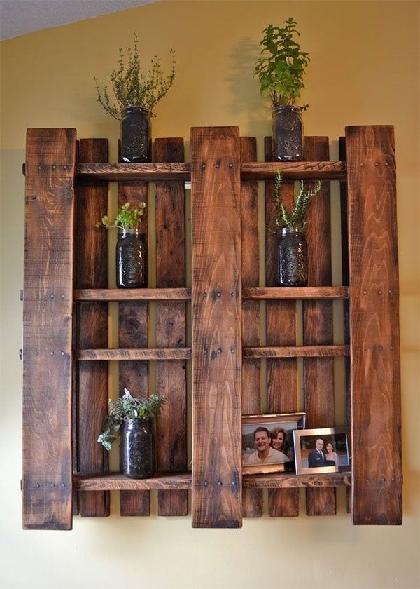 Diy Home Ideas: 25 Creative Ways To Recycle Wooden Crates And Regarding Wall Accents Made From Pallets (Image 9 of 15)