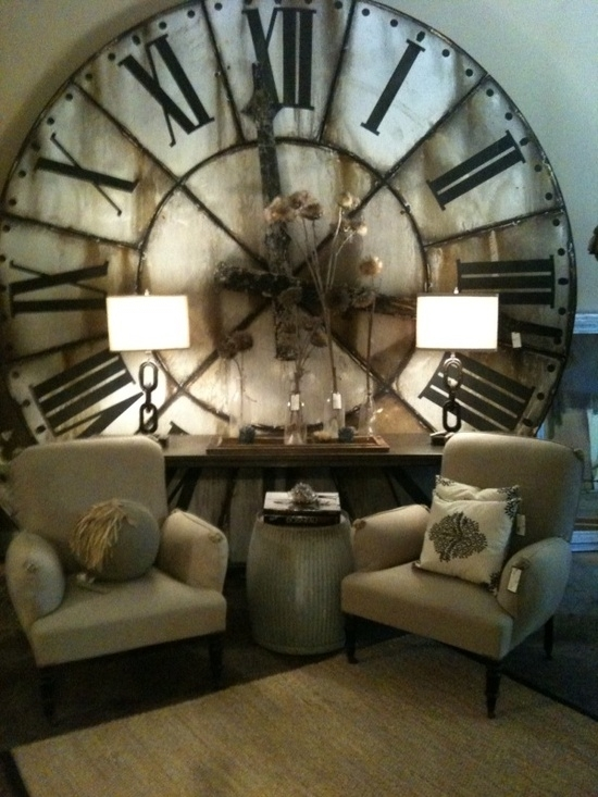Diy: How To Make This Restoration Hardware Inspired Clock – A Regarding Clock Wall Accents (Image 10 of 15)