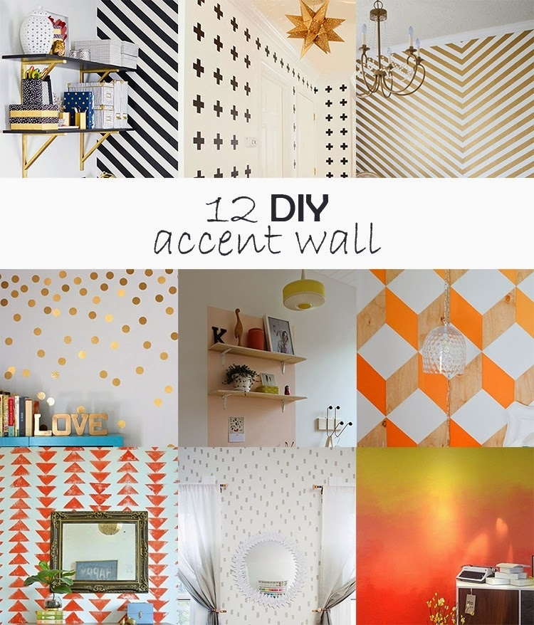 Diy Monday # Accent Wall – Ohoh Blog Intended For Diy Wall Accents (Image 6 of 15)