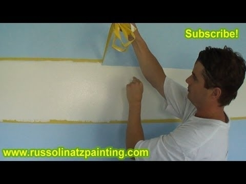 Diy Nursery Painting – Accent Wall & Horizontal Stripes (Part 9 In Horizontal Stripes Wall Accents (View 13 of 15)