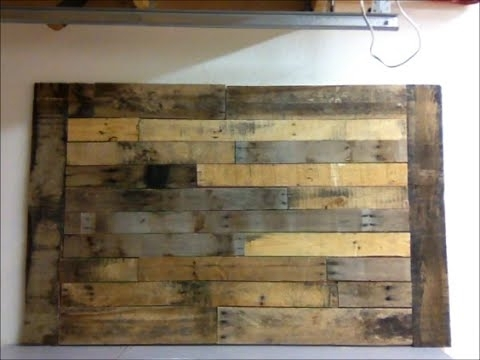 Diy : Pallet Wood Wall Art Frame Decor Shabby Chic – Youtube With Regard To Wood Pallets Wall Accents (View 2 of 15)