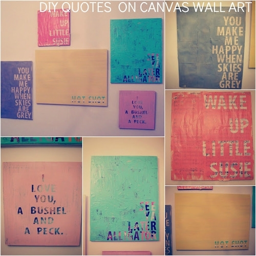 """Diy – Quotes On Canvas Wall Art All I Think Of Is """"i Love You, A In Homemade Canvas Wall Art (Image 10 of 15)"""