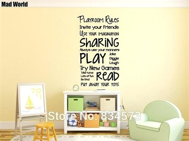 Diy Removable Wall Decals As Well As Mad World Playroom Rules Throughout Fabric Wall Art Stickers (View 11 of 15)
